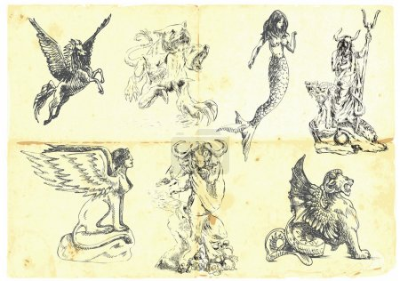 Collection of mythical characters