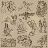 Traveling series: Ancient Egypt - collection of an hand drawn illustrations