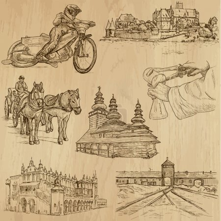 Traveling series: POLAND (set no.1) - vector colle...