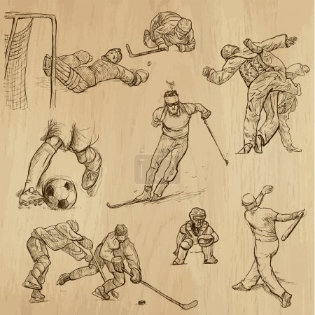 Sport collection no.9 - hand drawn illustrations