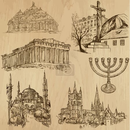 Religious no.9 - Vector pack, hand drawings