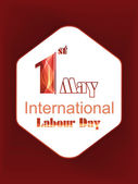 World Labour Day concept with stylish text on shiny background