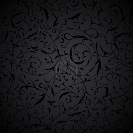 Black seamless abstract pattern