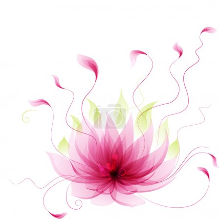 Illustration for Abstract vector pink lotus flower - Royalty Free Image
