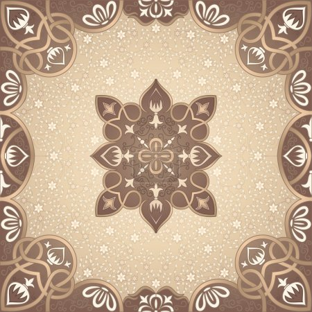 Vector floral arabesque ornament
