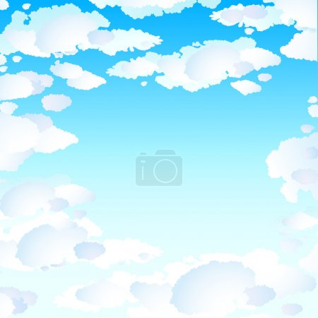 Illustration for Blue skies with clouds - Royalty Free Image
