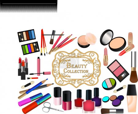 Illustration for Collection of cosmetic elements - Royalty Free Image