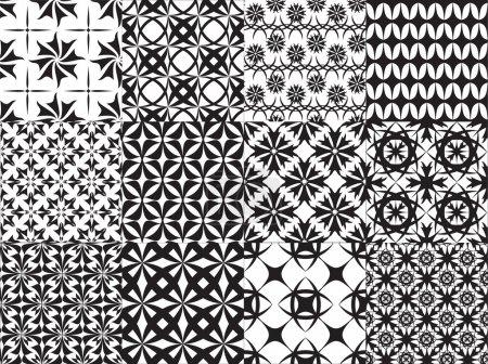Illustration pour Ensemble de douze vecteur transparente géométriques - image libre de droit