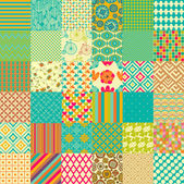 Set of seamless childish patterns