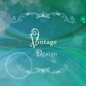 Vektorové pozadí abstraktní s vintage rám