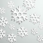 Abstract paper snowflake background