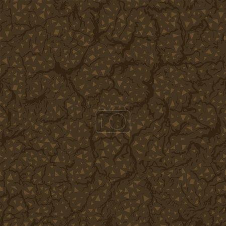 Seamless pattern of ground inside. Vector Illustration