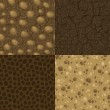 Set of vector seamless pattern for ground inside...