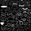Collection of handdrawn decorative design elements...