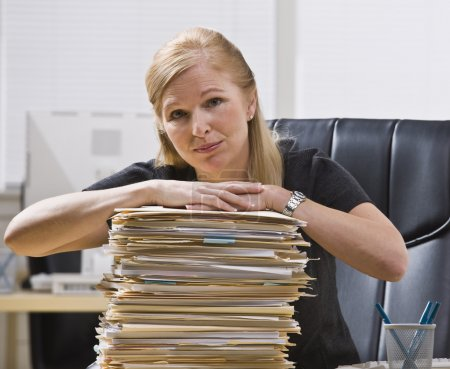 Woman with Paperwork
