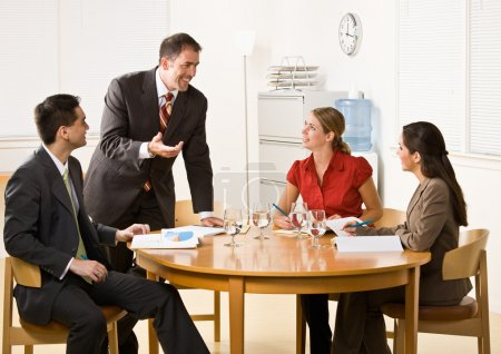 Business in a meeting