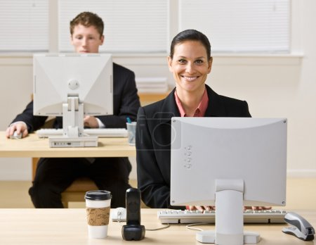 Business typing on computers