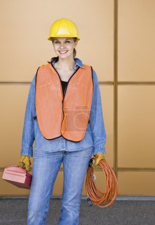 Young Female Construction Worker