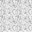 Seamless pattern with handwriting text...