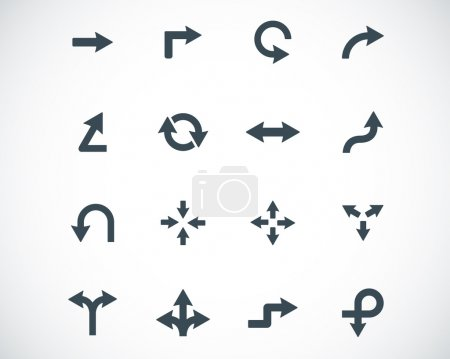 Vector black icon arrows icons