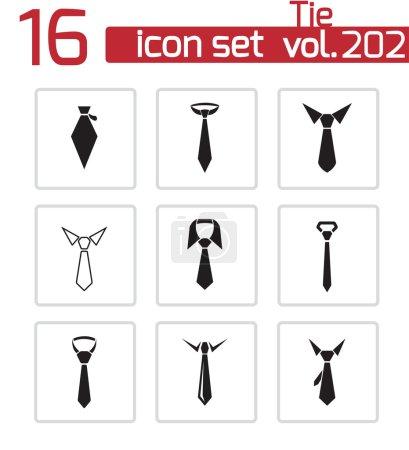 Vector black tie icons set