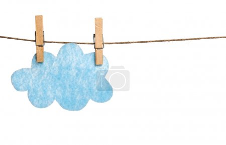 Felted Cloud on Clothesline