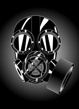 Illustration for Gas mask - Royalty Free Image