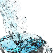 3D acqua splash