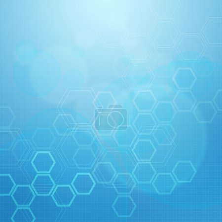 Photo for Abstract molecules medical blue background - Royalty Free Image