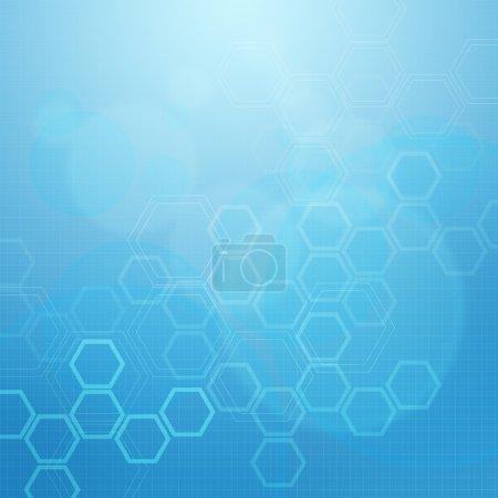 Photo pour Molécules Résumé médical fond bleu - image libre de droit