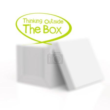 blank boxes on white