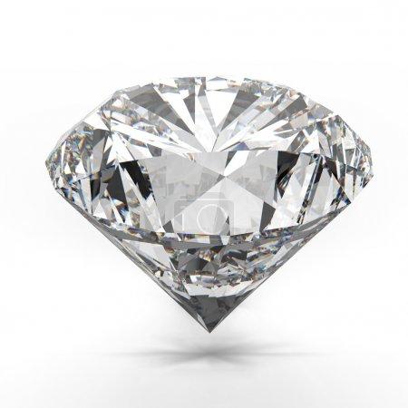 Photo pour Diamants isolé sur blanc modèle 3d - image libre de droit