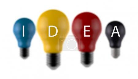 light bulb 3d as creative concept