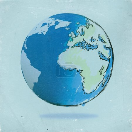 hand drawn the earth