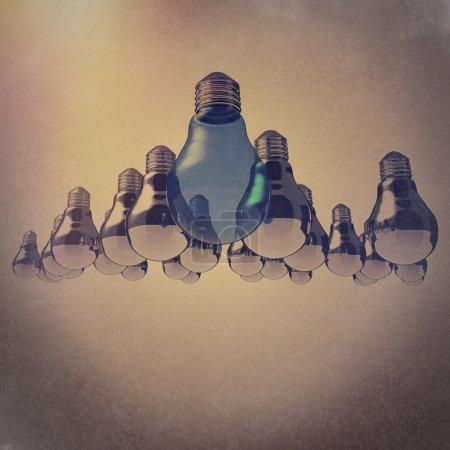 light bulb 3d as leadership