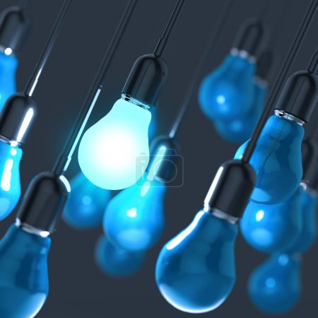 creative idea and leadership concept light bulb