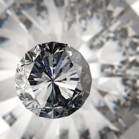 Photo pour Diamants isolés sur fond de modèle 3d foncé - image libre de droit