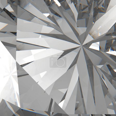 Diamonds isolated on dark 3d model