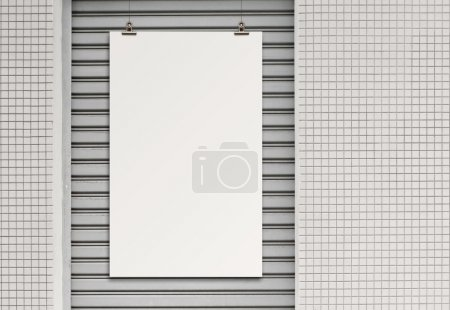 blank paper card on composition wall