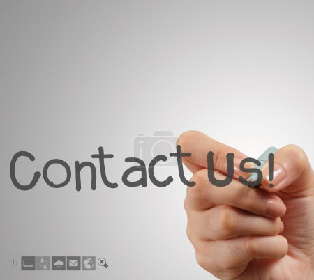Hand writing Contact us