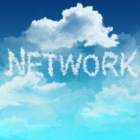 Photo pour Nuage mot de réseau comme concept - image libre de droit