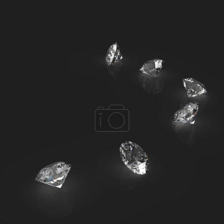 Diamonds 3d in composition