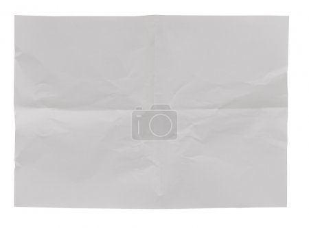 White crumpled paper background texture