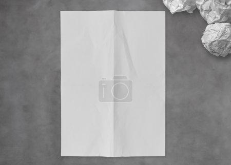 Blank crumpled sticky note paper on texture paper as concept