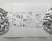 Постер металлические мозгами 3D с бизнес