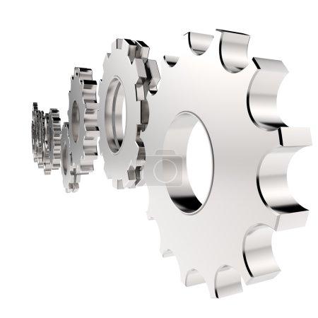 3d cog gear to success as concept