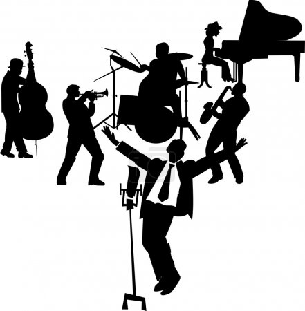 Fifties crooner on stage