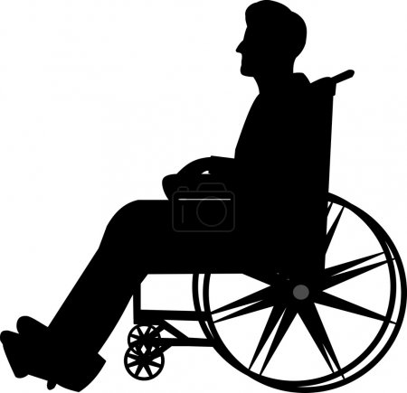 Man in wheelchair silhouette