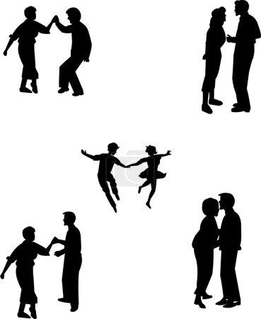 Teens in various dance poses