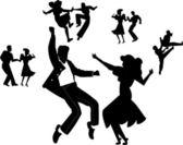 Rock and roll tanečníků